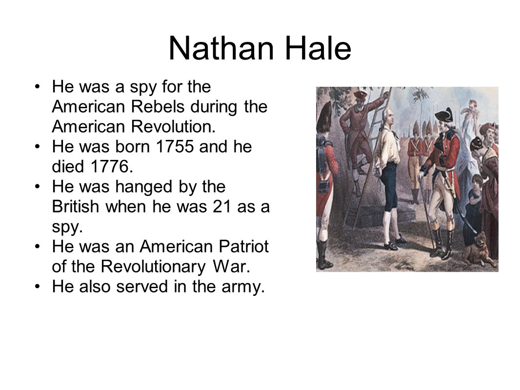 the role of nathan hale during the american revolution