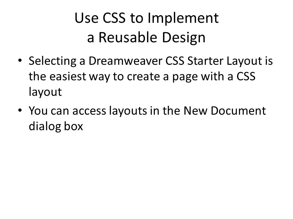 1 use css to implement a reusable
