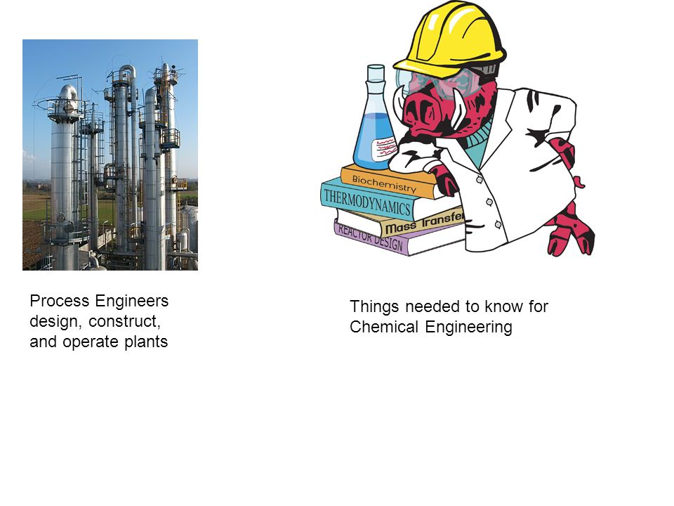 Process Engineers design, construct, and operate plants Things needed to know for Chemical Engineering
