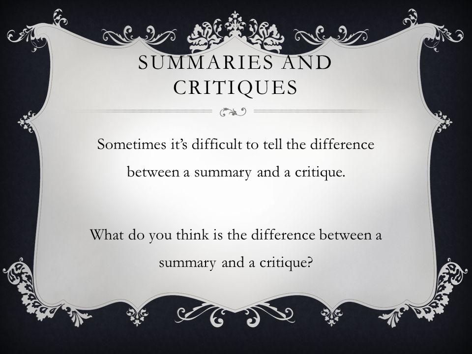 a summary on do you