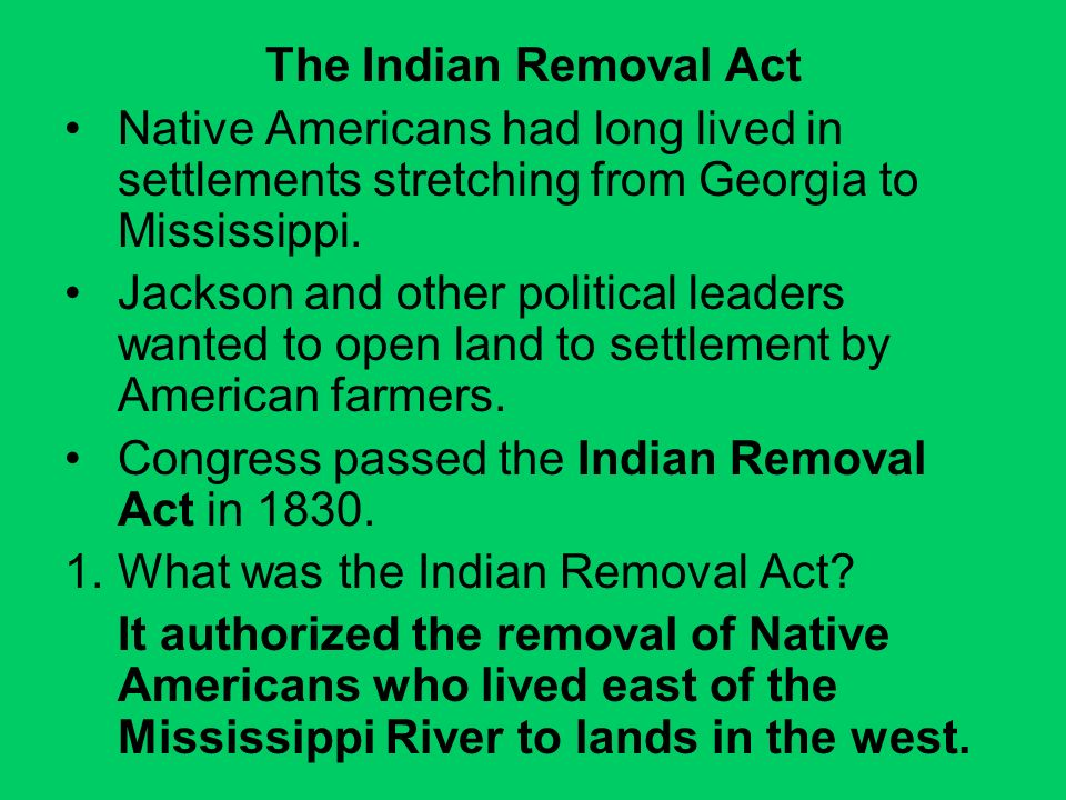 the decision of the jackson administration to remove the cherokee indians to lands west of the Accounts of the removal of indians  american lands in the southeast cherokee people americans to relocate west jackson immediately set out to enforce.