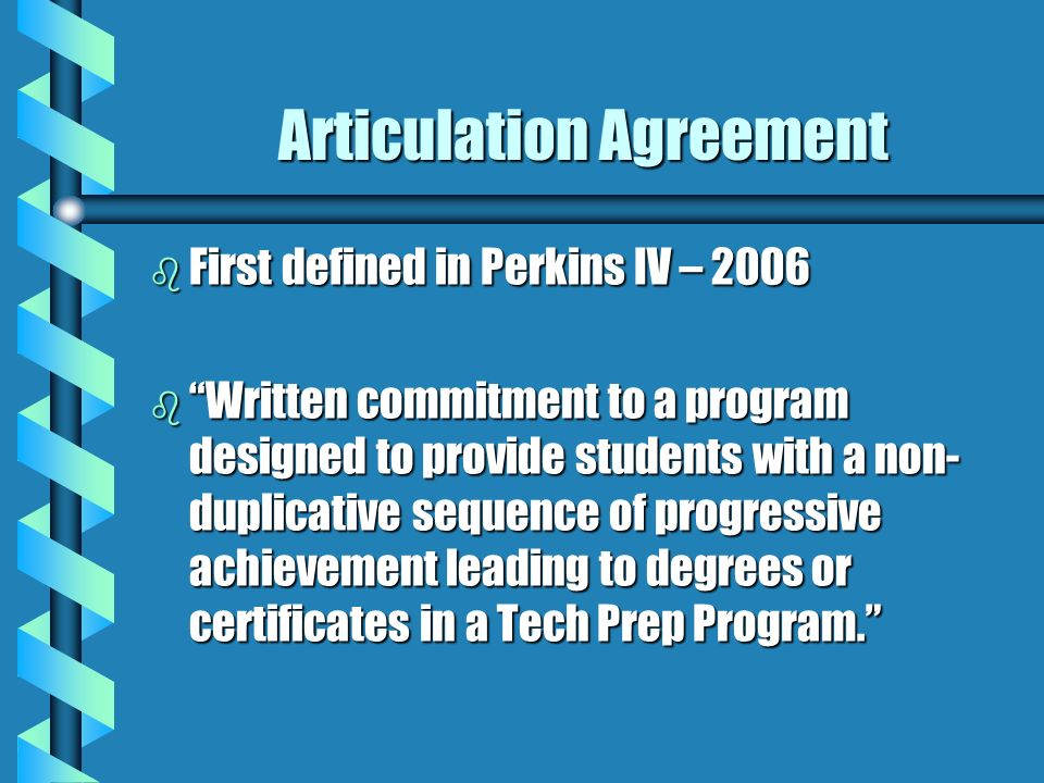 Lovely 2 Articulation Agreement B First Defined ...