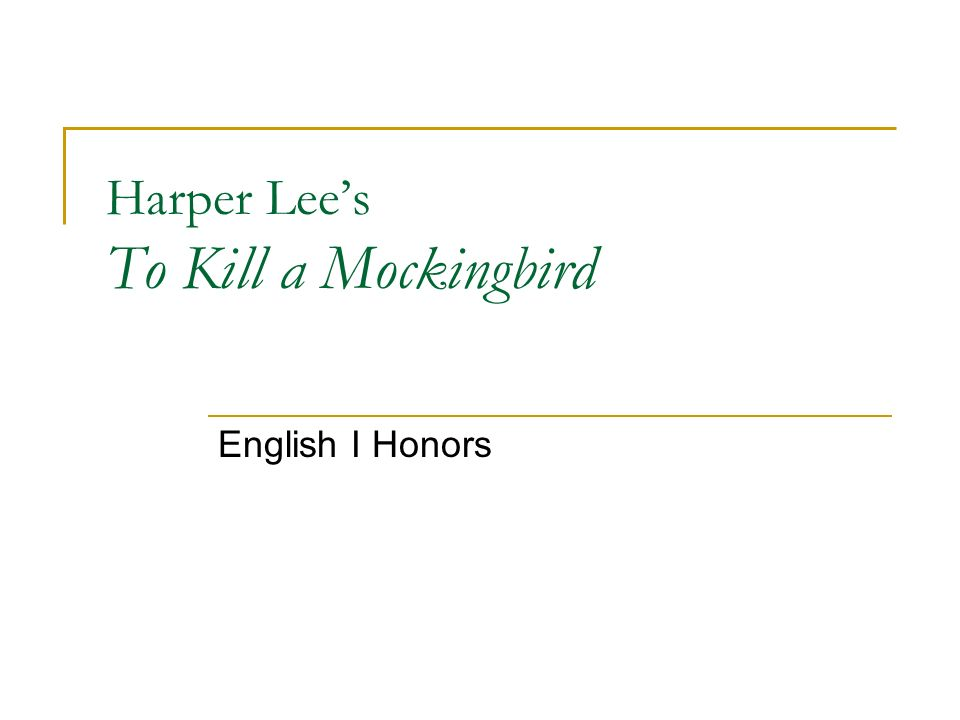To kill a mockingbird: what does scout