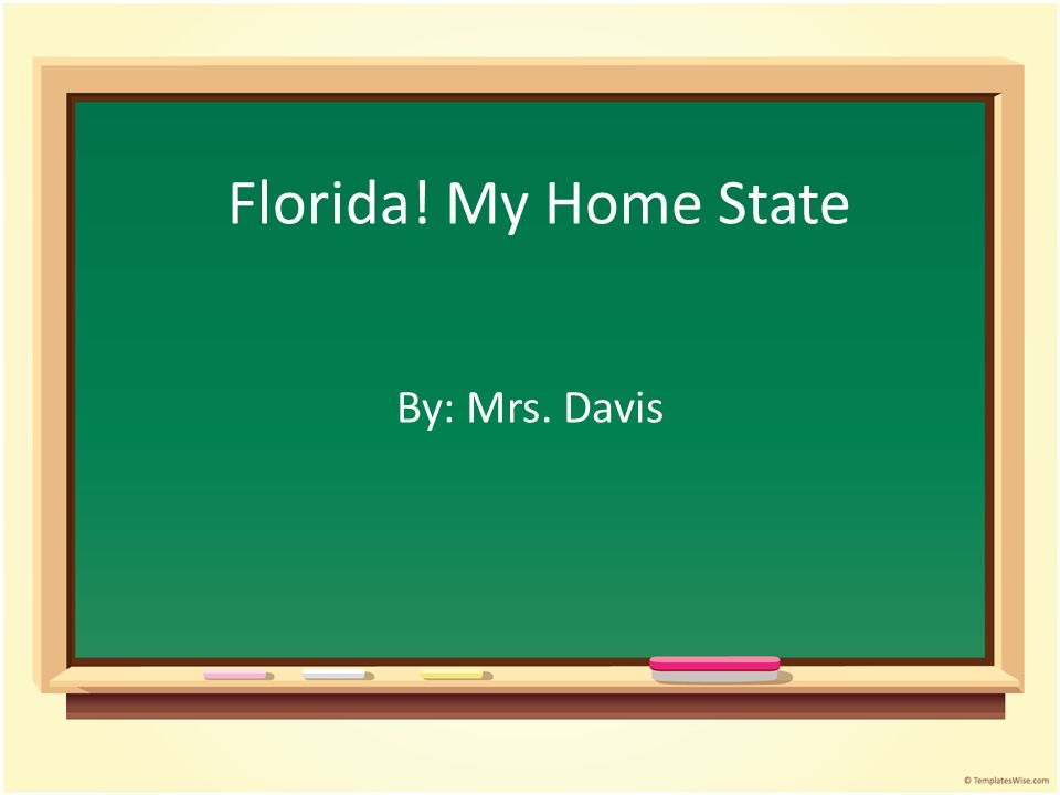Florida My Home State By Mrs Davis Lesson Plan Grade 2 Nd Grade