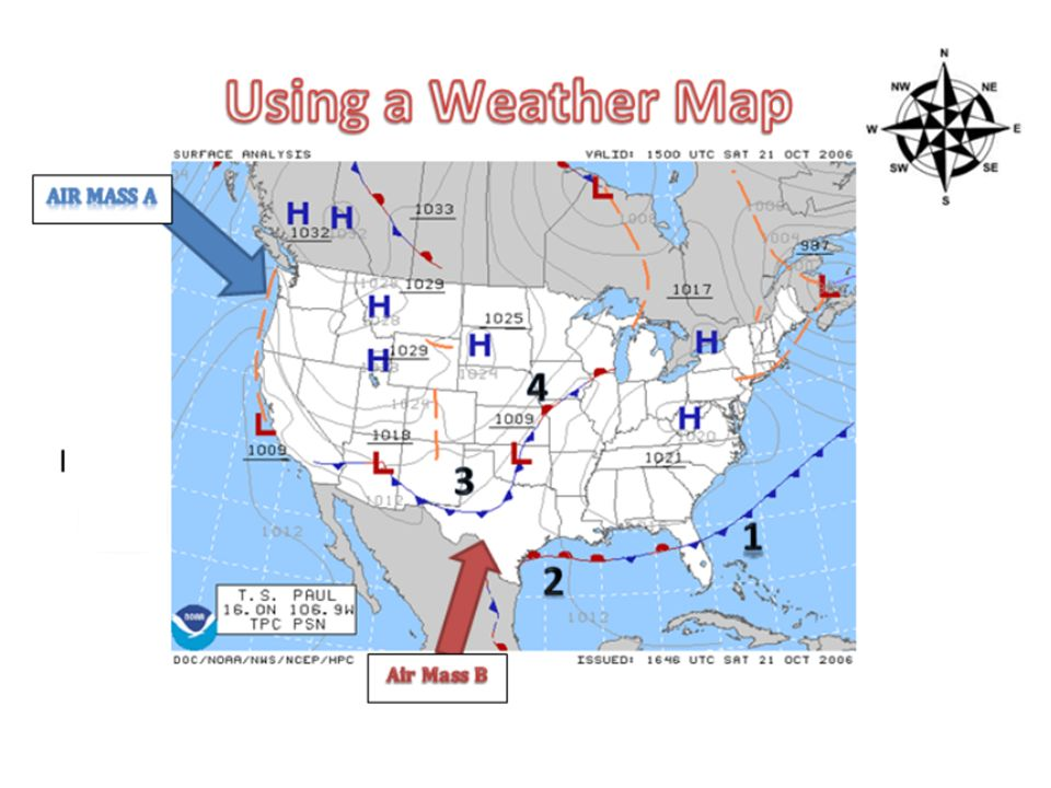 Aim 32 How is climate influenced by different factors Do Now – Weather Map Worksheet