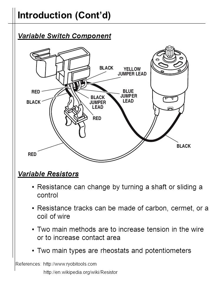 Reciprocating Saw - Variable Resistors and Switches By: Ryan Kim ...