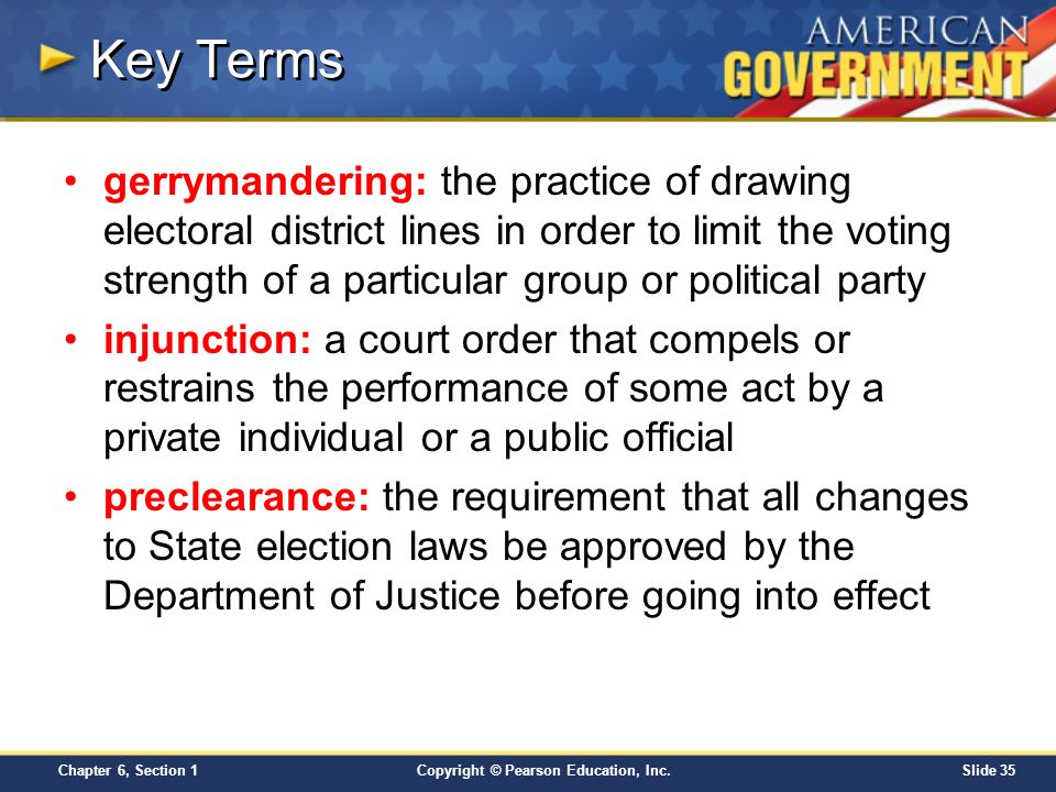 Chapter 6 Voters and Voter Behavior Section 1 Copyright – Gerrymandering Worksheet