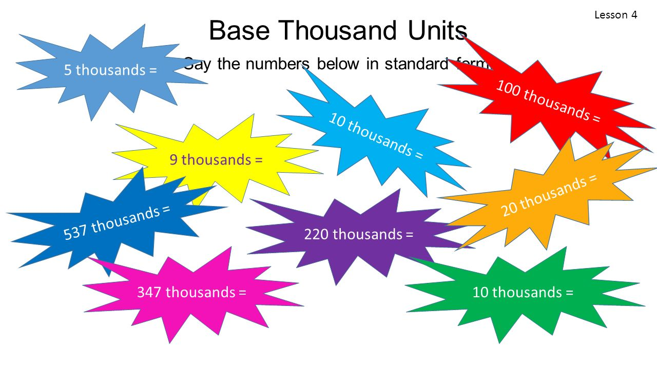 Module 1 lesson 4 place value rounding and algorithms for base thousand units say the numbers below in standard form falaconquin