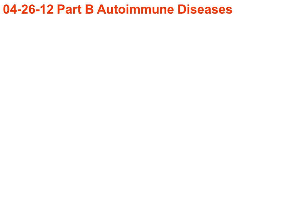 Part B Autoimmune Diseases