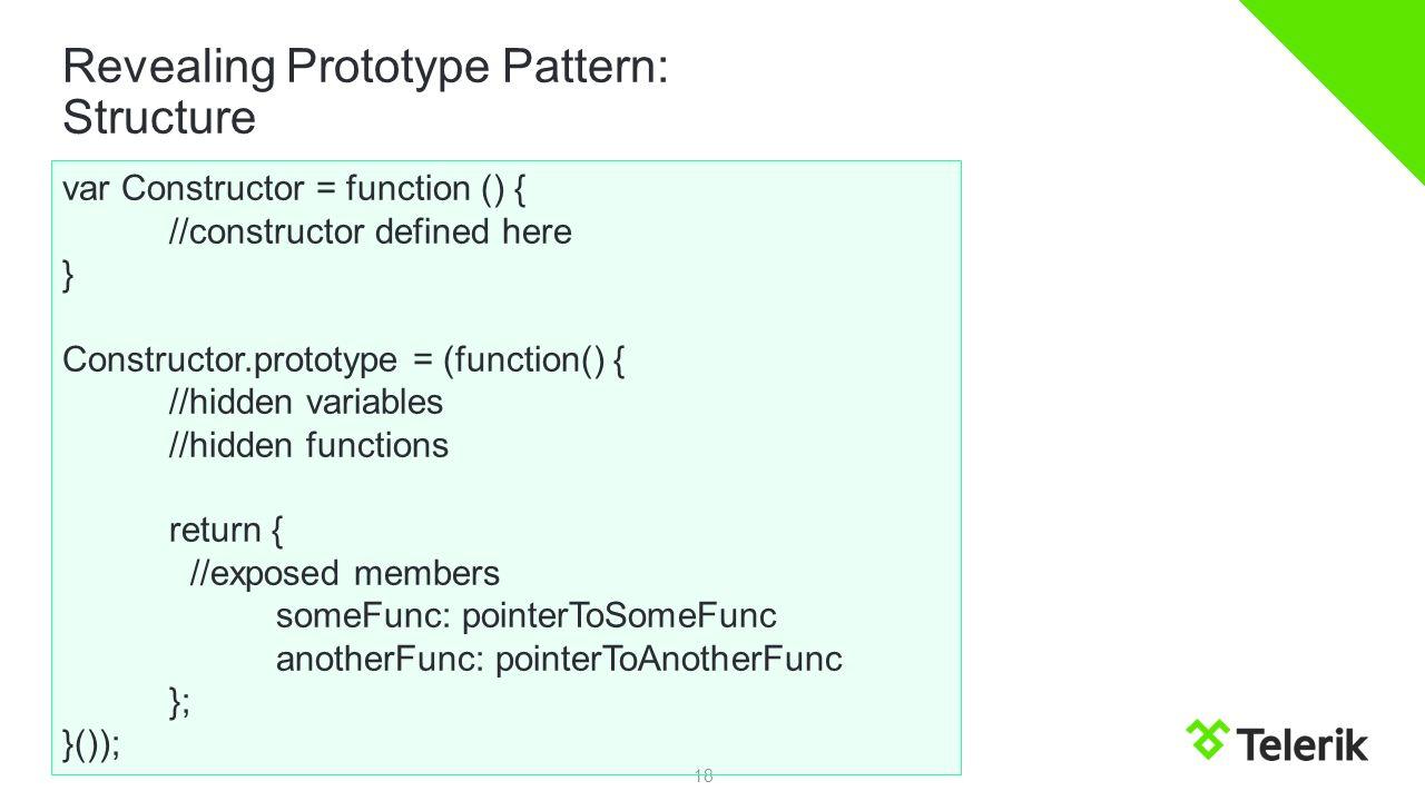 Revealing module pattern
