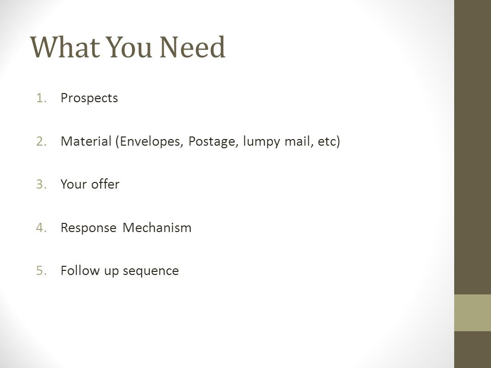 Breakdown of Direct Mail Part 1. Why Direct Mail Works 1.Allows ...