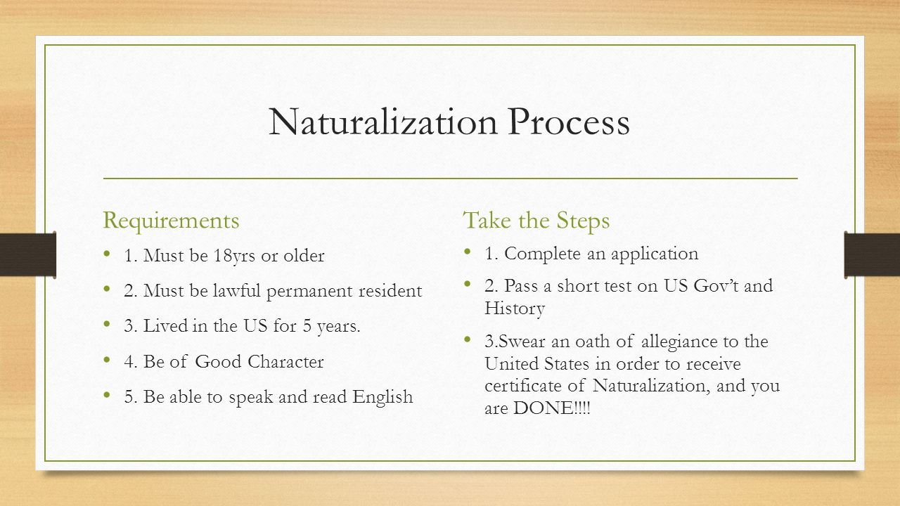 Civics and citizenship mr gary 7b civics what you need to know 6 naturalization process requirements xflitez Image collections