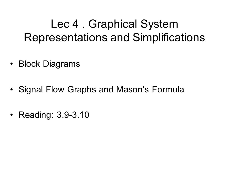 lec . graphical system representations and simplifications block, wiring diagram