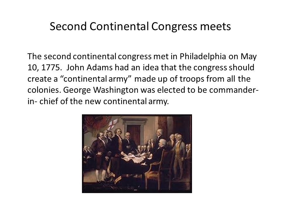 an analysis of the second continental congress convenes in philadelphia What was accomplished by members of the second continental congress during their meeting in philadelphia - 1119778.