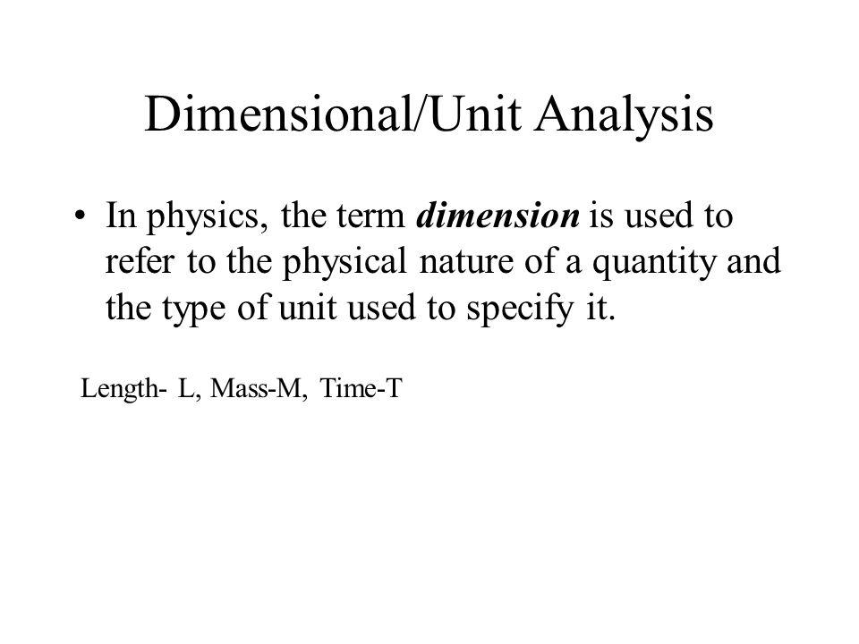 C H A P T E R 1 Introduction And Mathematical Concepts Units Unit