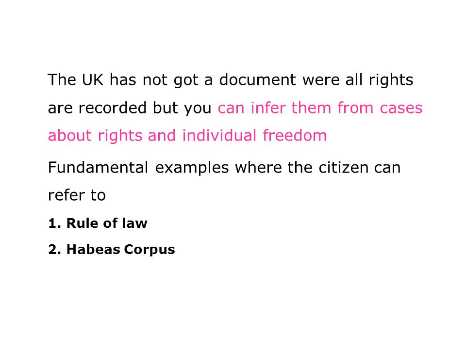 British Laws Fundamental Rights Individual Freedom And Their