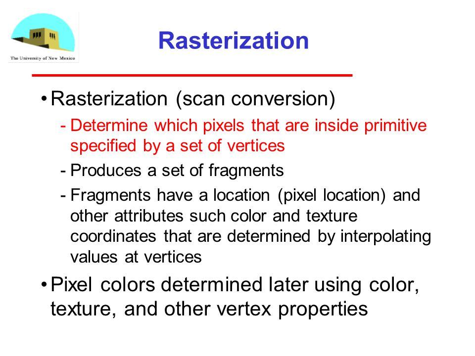 4 Rasterization Rasterization ...