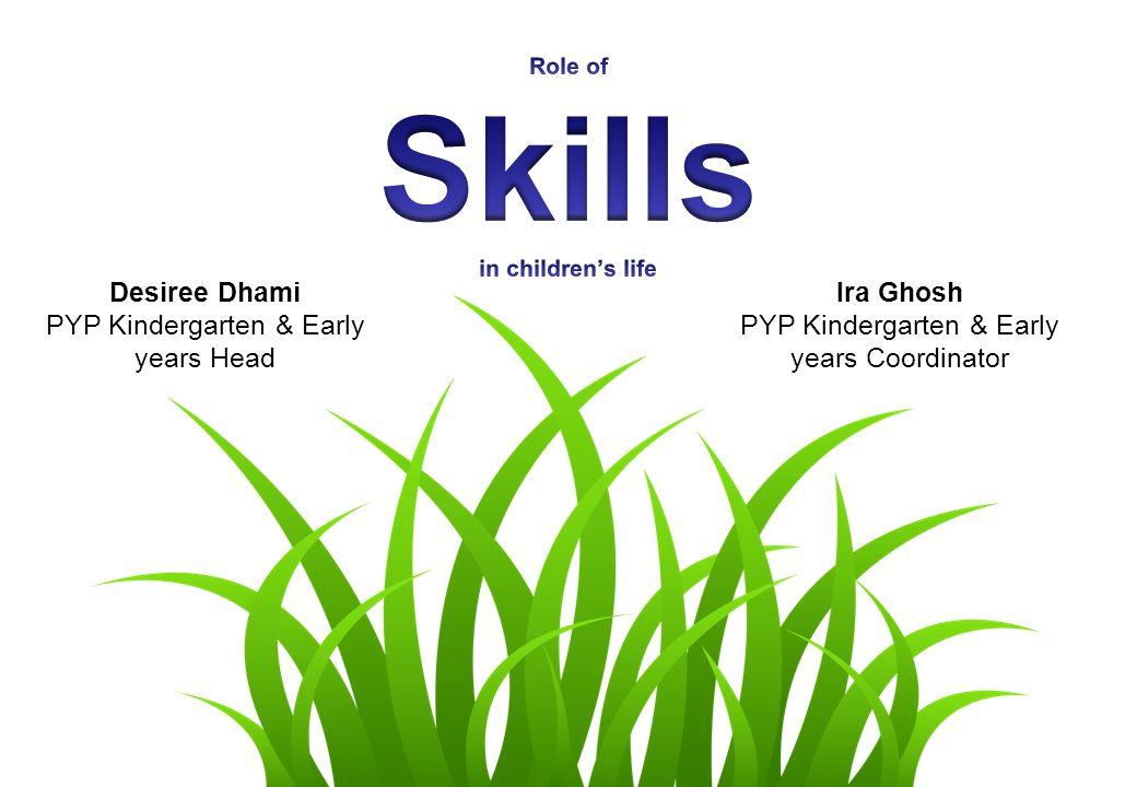 Desiree Dhami PYP Kindergarten & Early years Head Ira Ghosh PYP Kindergarten & Early years Coordinator