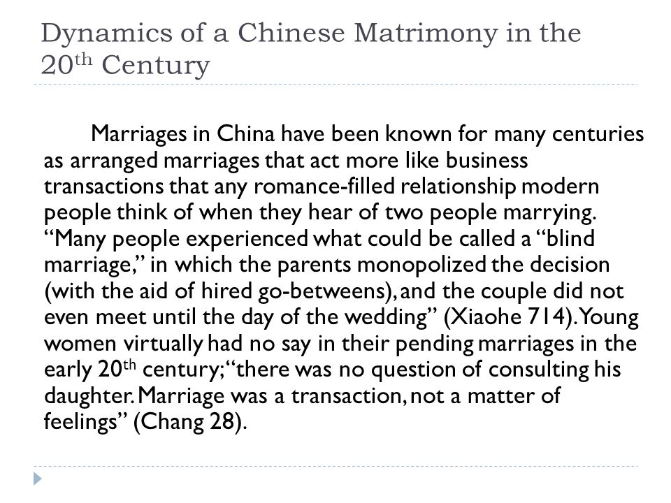 revision example process essay iuml frac three parts iuml frac intro dynamics of a chinese matrimony in the 20 th century marriages in have been known