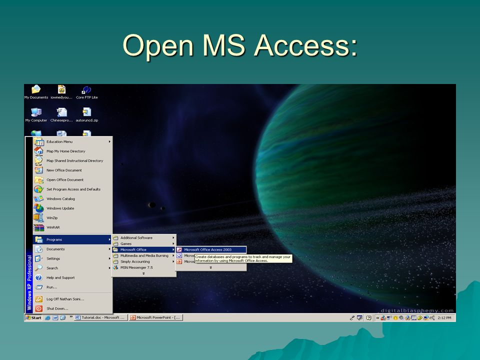 ms access student