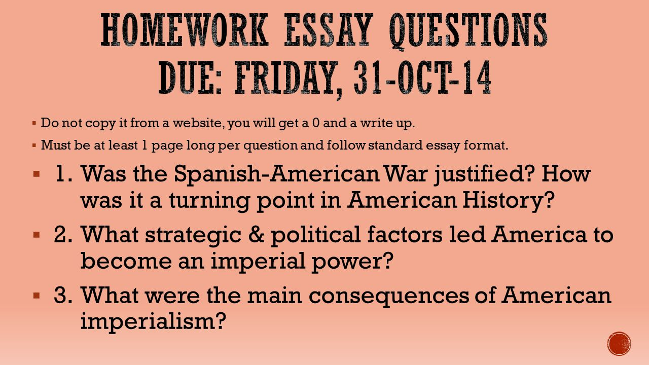 causes of the spanish-american war essays One positive consequence of the spanish american war was its effect on the way both americans and europeans thought about the united states as the japanese used this opening to make further inroads into northeast china, causing the roosevelt administration concern that this violated the.
