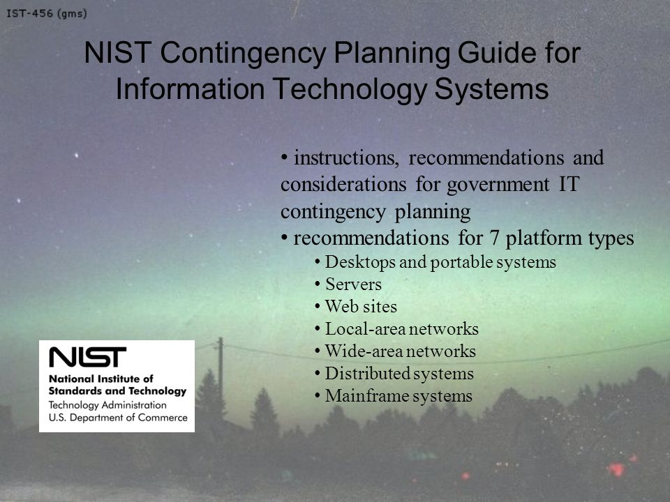 Nist business continuity plan