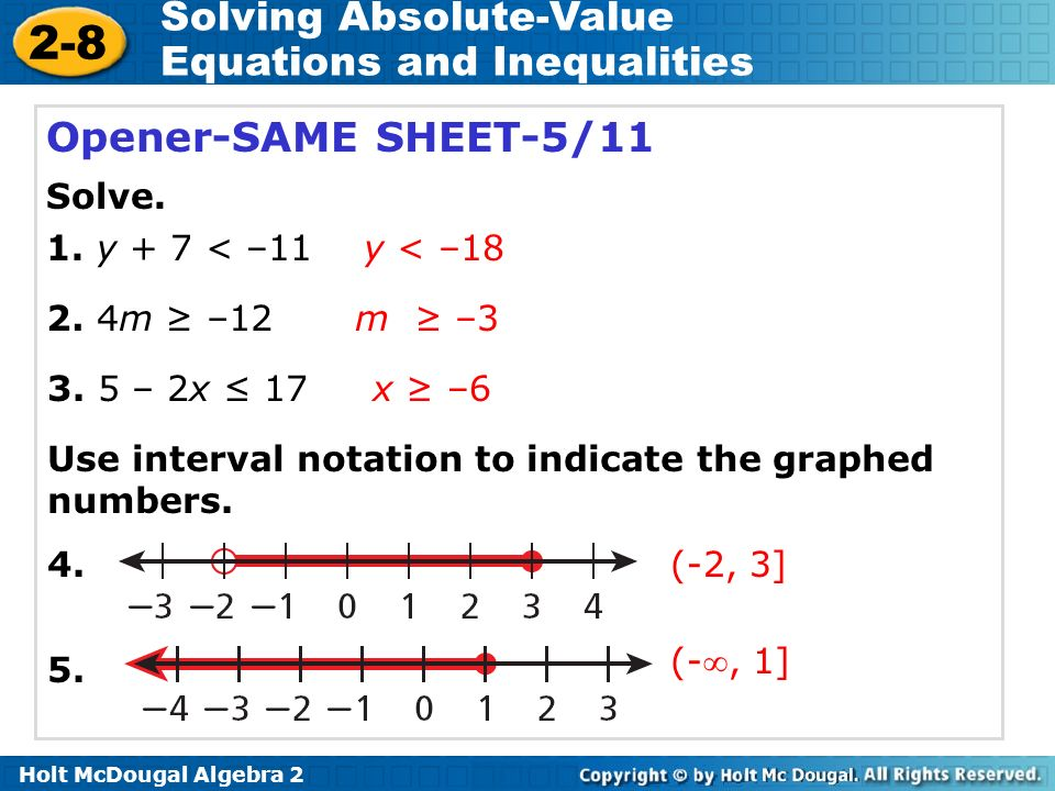 Worksheet Absolute Value Equations Worksheet Algebra 2 solving absolute value equations and inequalities worksheet 2 8