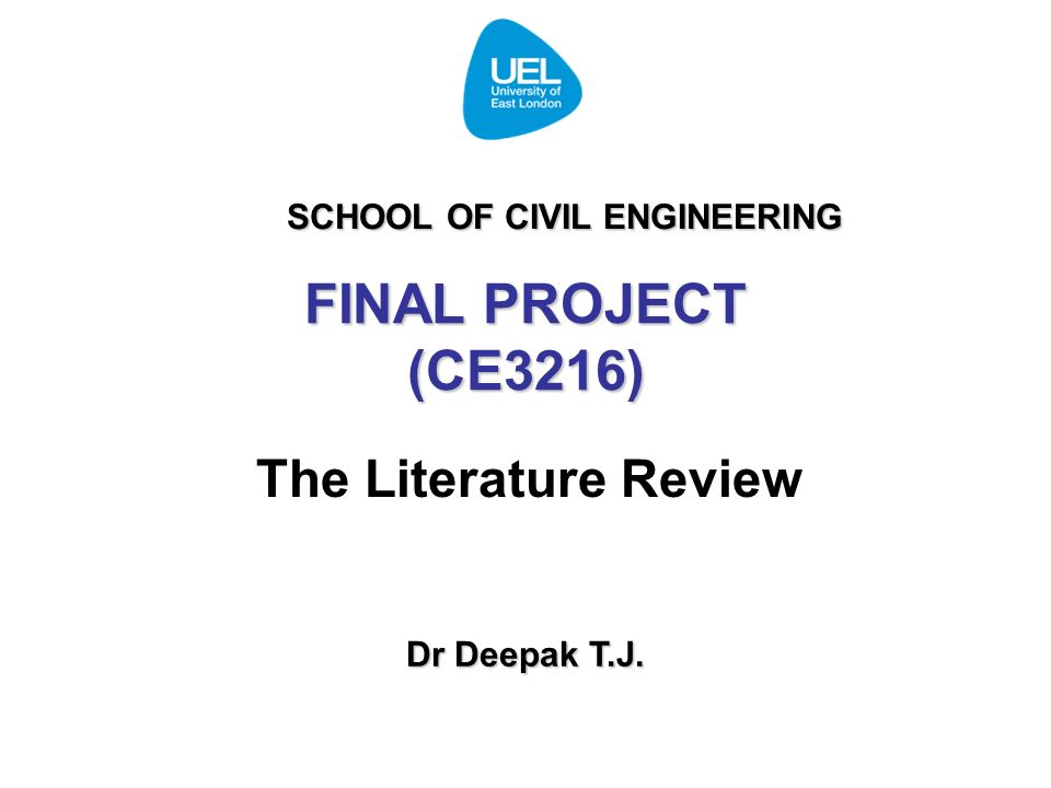 engineering dissertation literature review A thesis or dissertation introduction, literature review, methodology, results the equivalent for engineering and architecture students is diplomity.