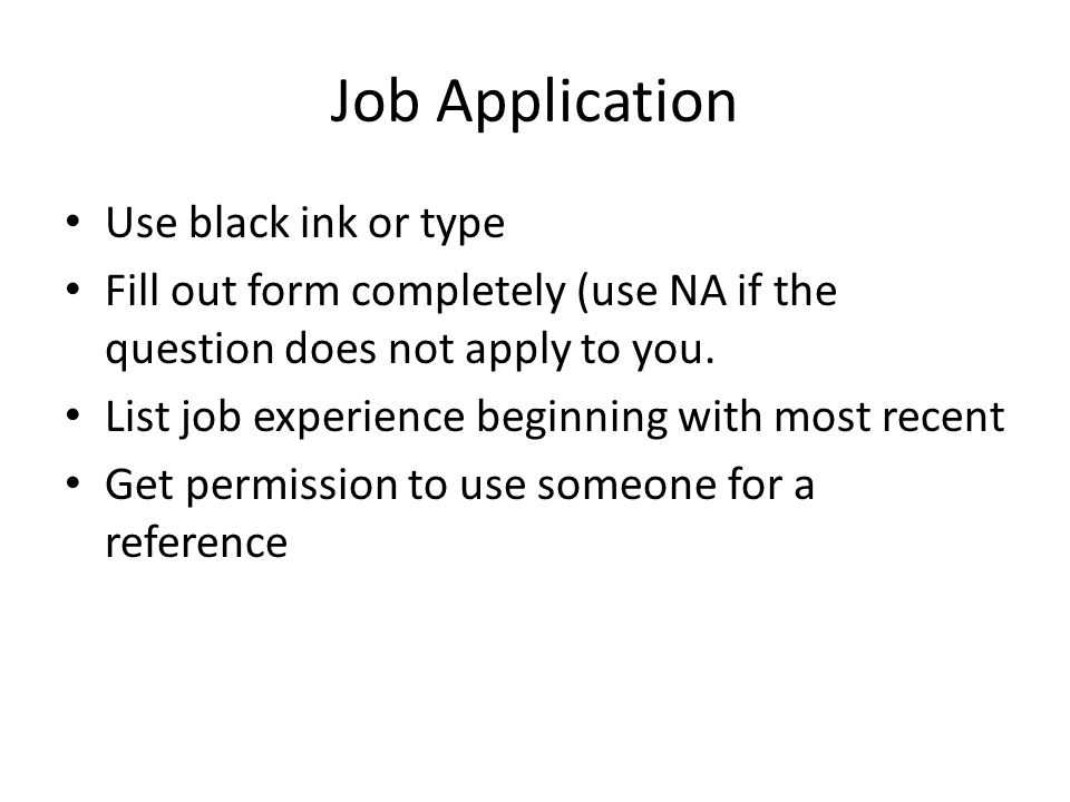 Getting a Job. Resume Name Contact information Educational ...