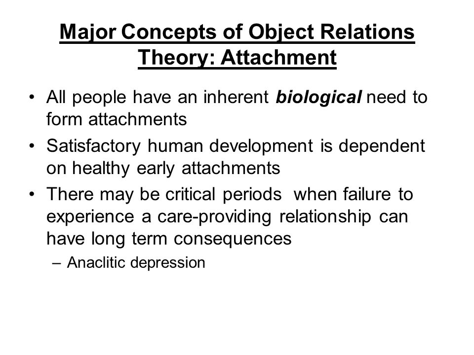 Object Relations Theory Key Concepts 96768 | RIMEDIA