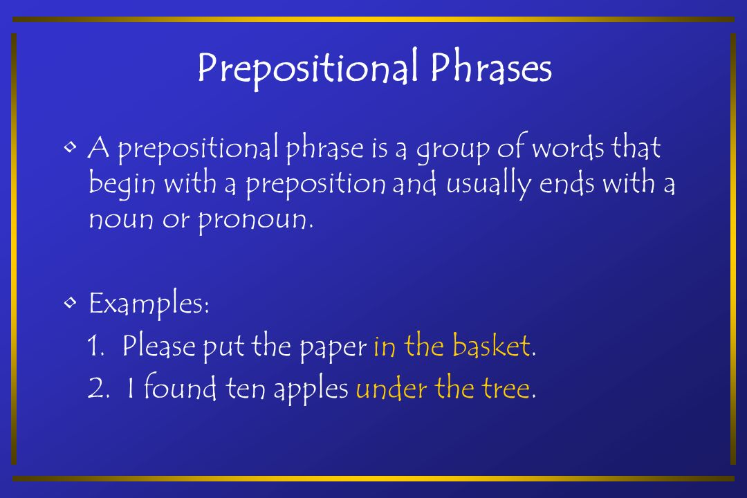 Phrases and clauses exercises for grade 6