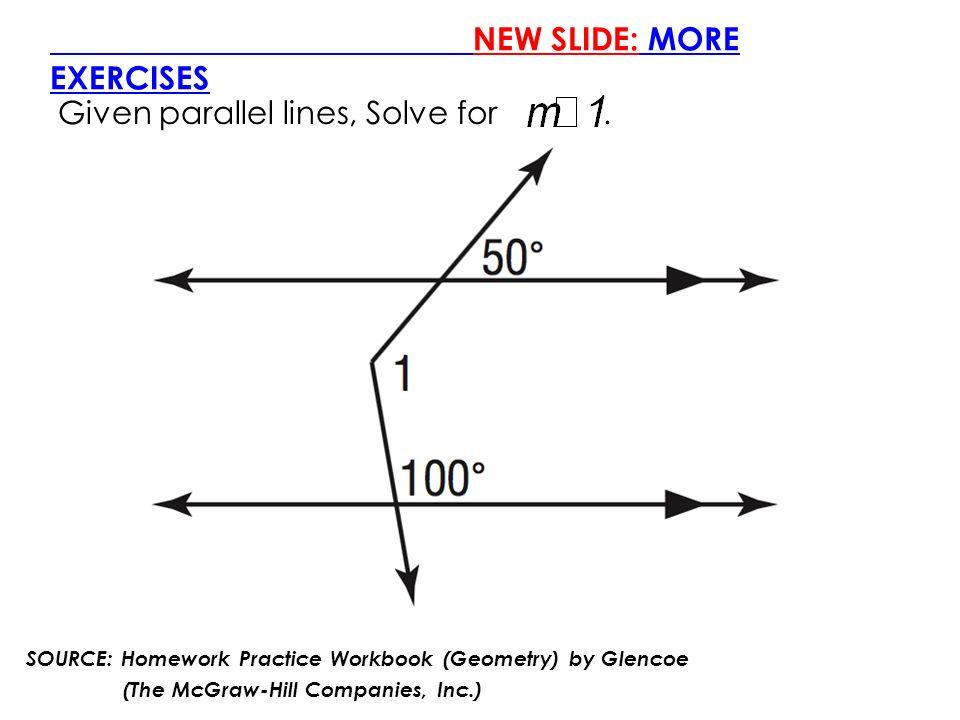 glencoe geometry homework workbook