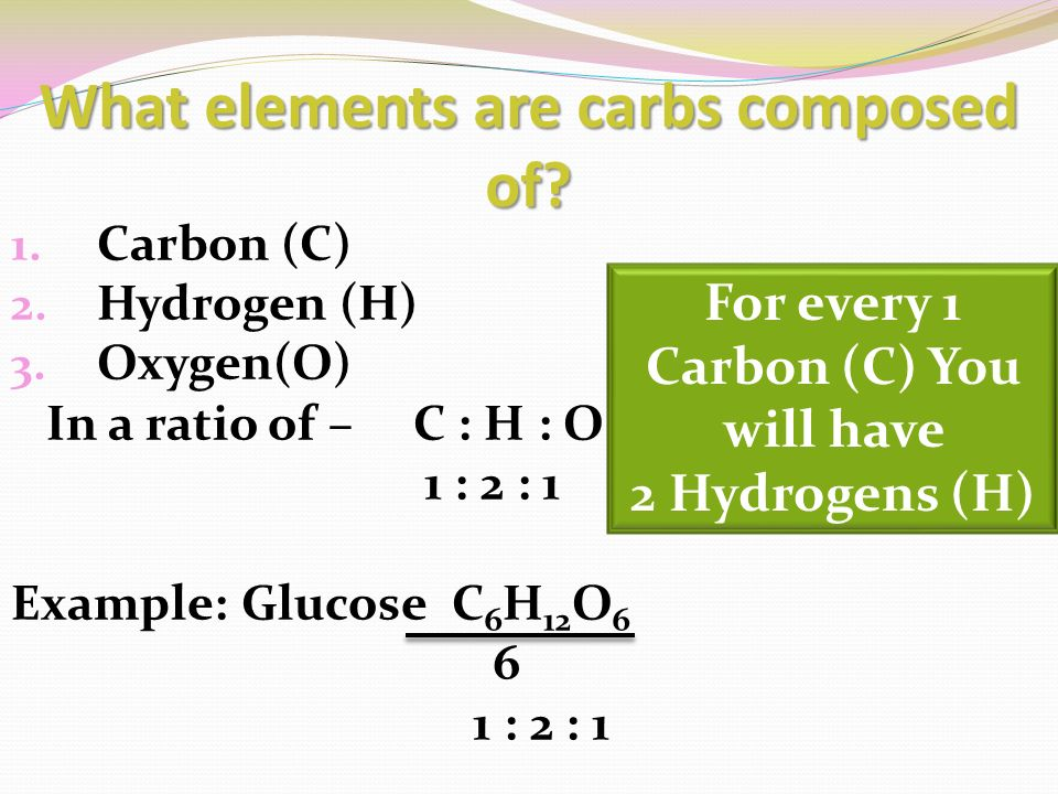 Quick Energy 2 What Elements Are Carbs