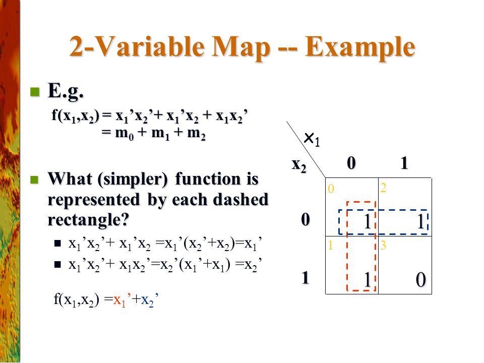 2-Variable Map -- Example E.g.E.g.