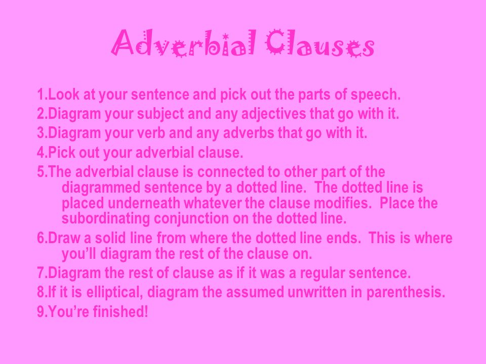 adverbial clauses