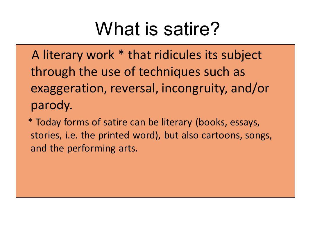 satire story essay