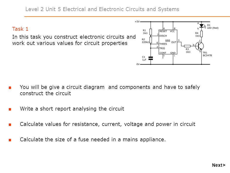 Level 2 Unit 5 Electrical and Electronic Circuits and Systems ...