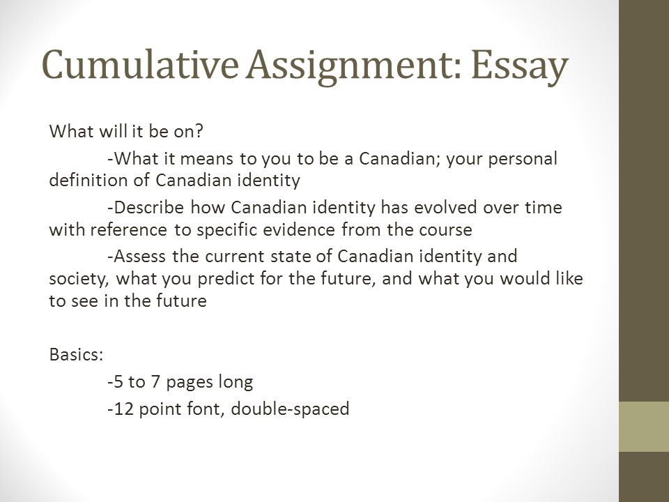 canadian identity essay example Canadian identity essay home canadian media essay example in 1968 a broadcasting act was passed that forever changed.