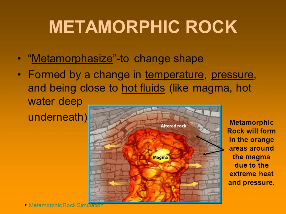METAMORPHIC ROCK FORMATION How do metamorphic rocks form? - ppt ...
