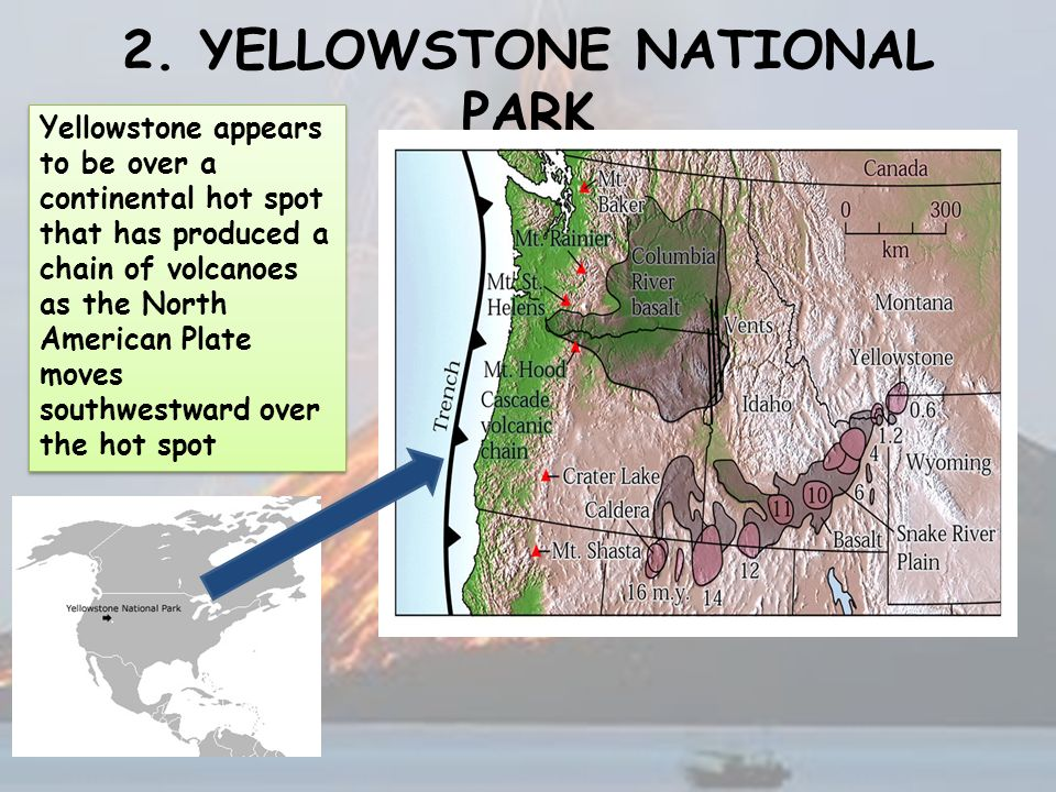 yellowstone national park map volcano