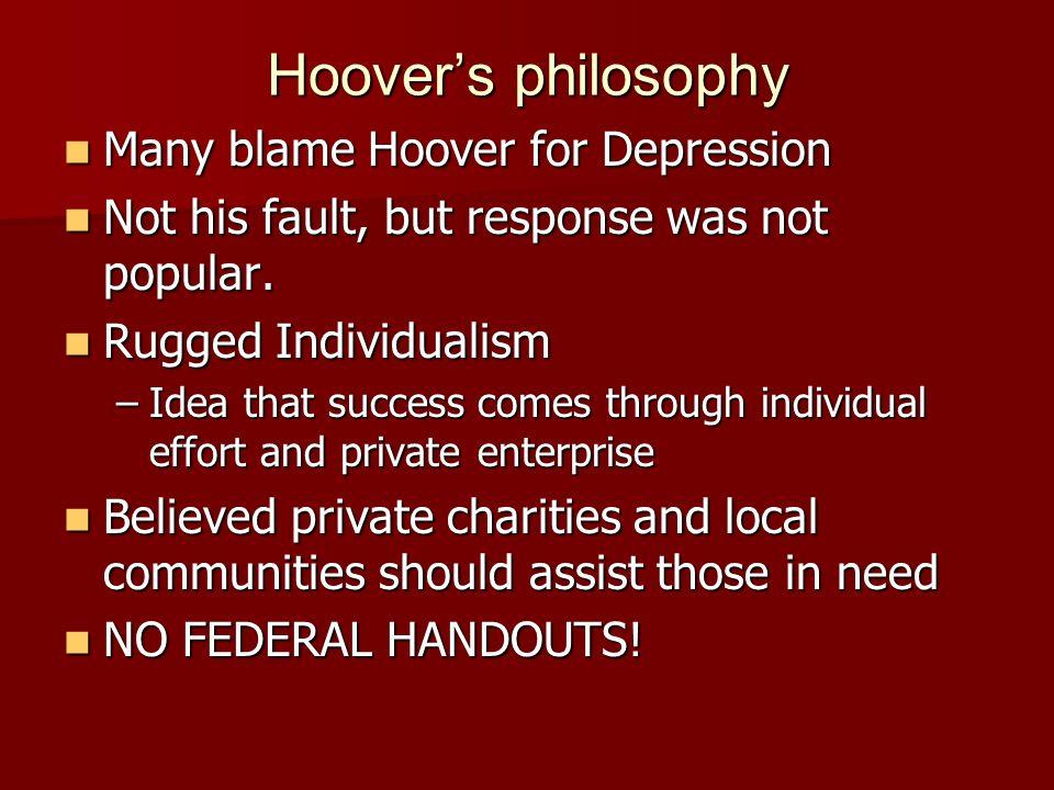 5 Hooveru0027s Philosophy ...