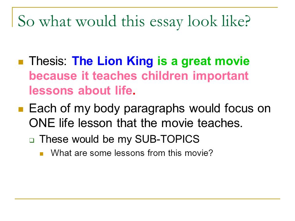 how to write a thesis statement what is a thesis a thesis  so what would this essay look like