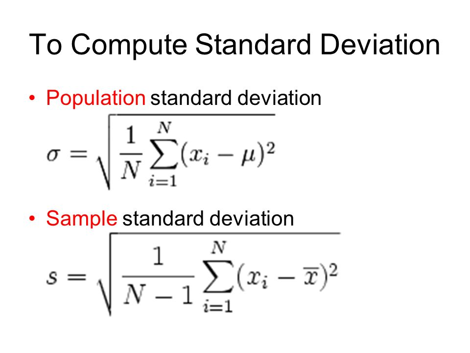 Standard Deviation Equations - Jennarocca