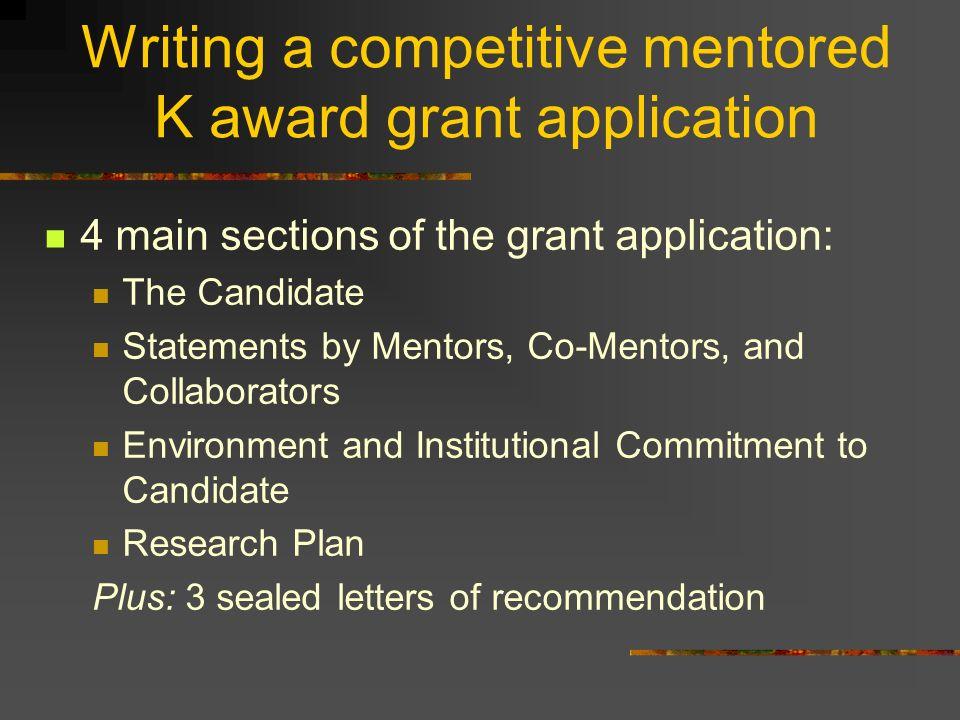 Nih mentored career development awards k series part 1 thomas 14 writing spiritdancerdesigns Choice Image