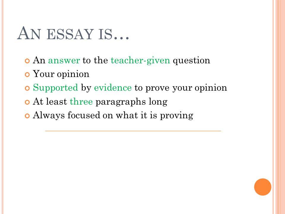 What's a five paragraph essay