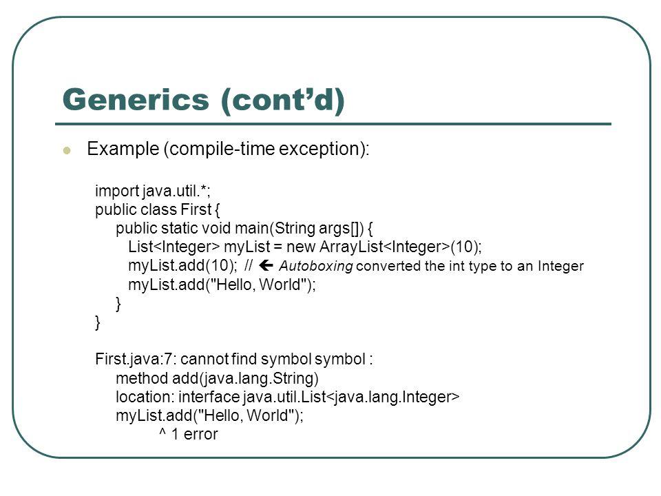 generics tutorial in java pdf