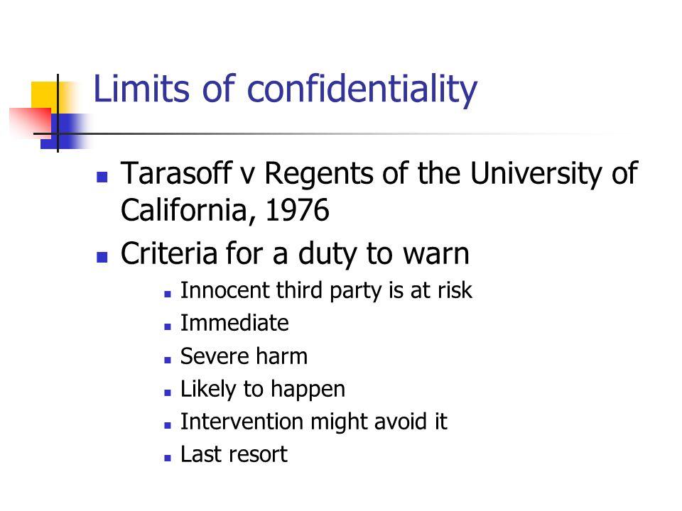tarasoff vs regents