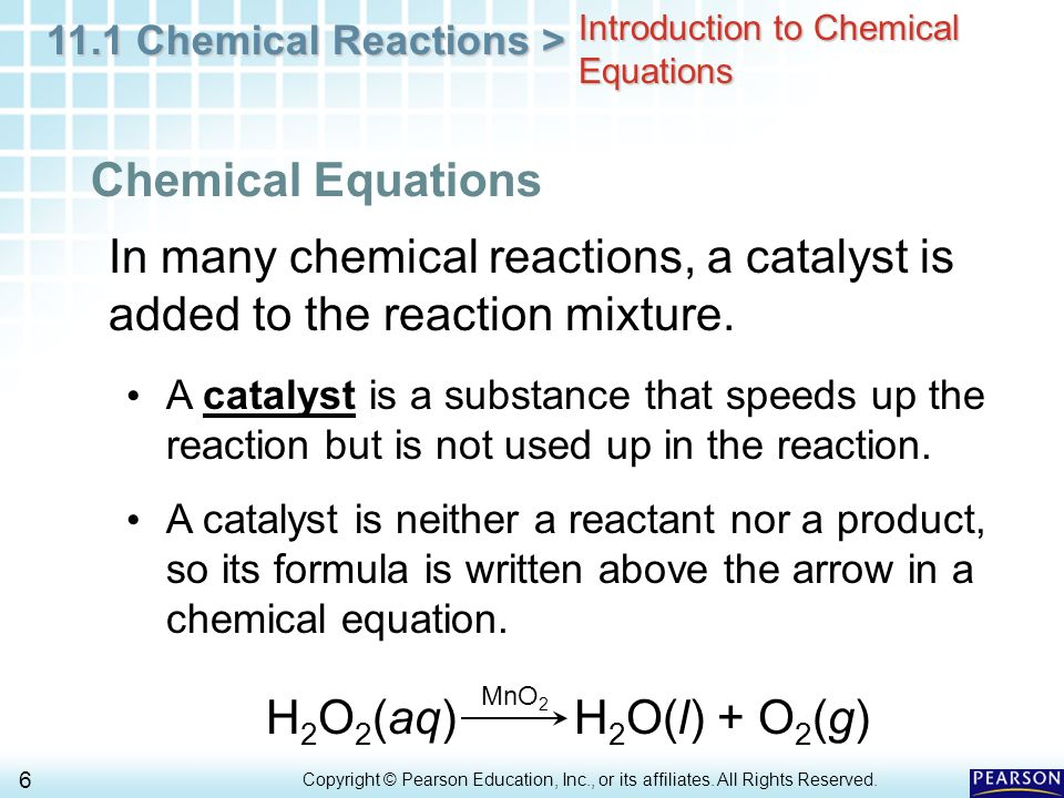 Worksheets All Chemistry Equations introduction to chemical equations worksheet equation 11 1 reactions gt 6 copyright pearson education inc or its affiliates