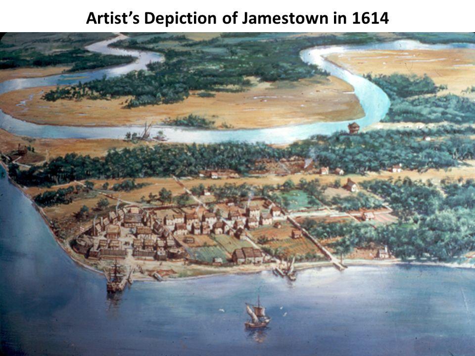 58 Artist's Depiction of Jamestown in 1614