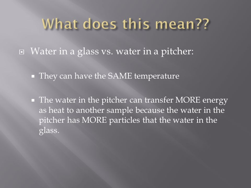  Water in a glass vs.